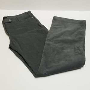 A.P.C. Gray Corduroy 5 pockets, Zip fly, Wide legs